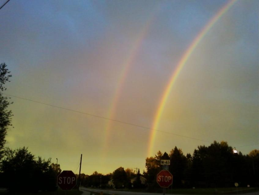 double rainbow, https://huffygirl.wordpress.com, © Huffygirl 2012