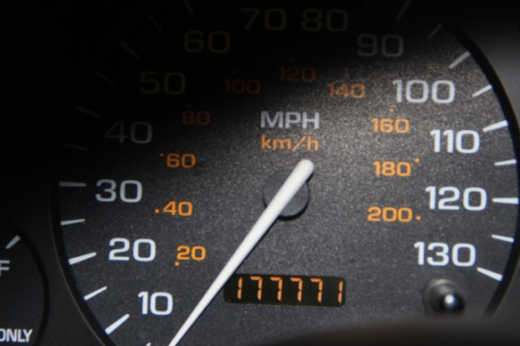 palindromic odometer, https://huffygirl.wordpress.com, © Huffygirl 2013