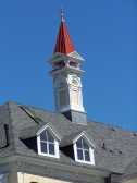 Fresh roofing and restored turrets.