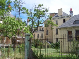 The original fence still stands.