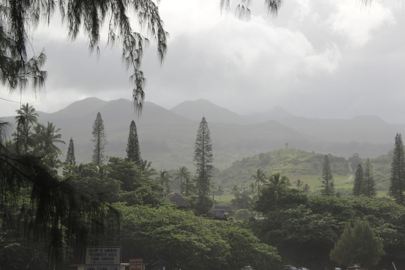 An ethereal mist had settled over the Keanae Peninsula.