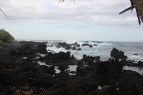 Keanae Peninsula, lava rock beach