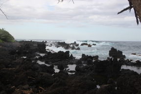 Keanae Peninsula, lava rock beach